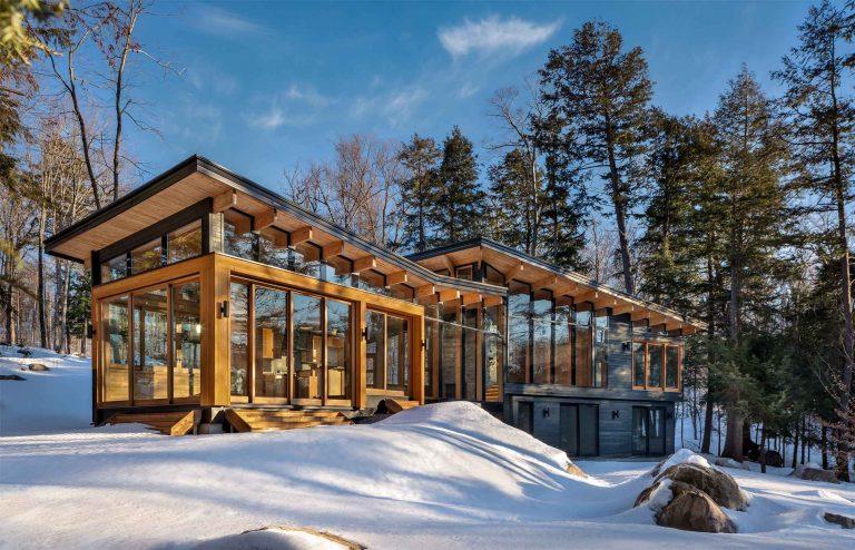 Trevor McIvor Toronto Architect Muskoka Four-Season Modern Timber Cottage